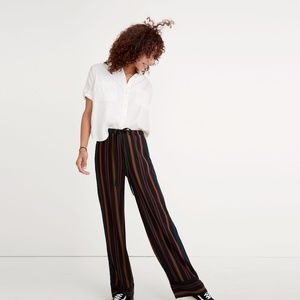 Madewell Striped Clermont Silk Pants Small
